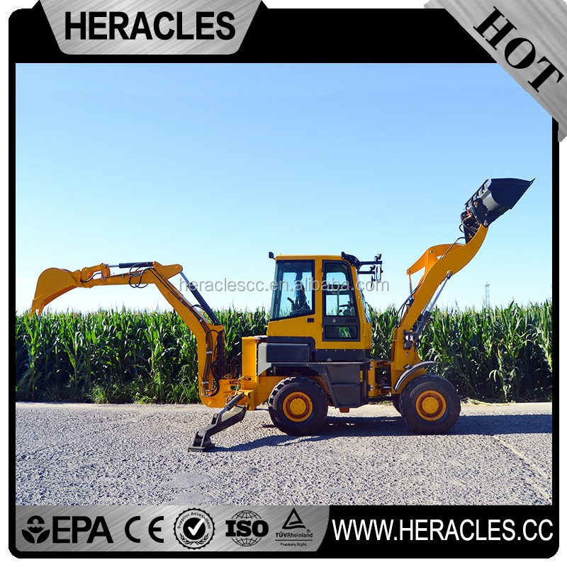4wd Heracles 3 point hitch backhoe tractor