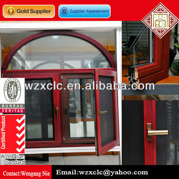 Durable Aluminum Wood Window With Fly Screen