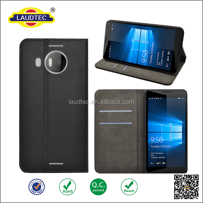 Nice Gift Premium PU Leather Case with stand & Magnetic Snap and Card Slots Money Pouch for Microsoft Lumia 950 XL