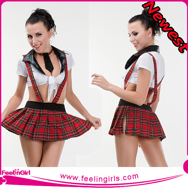 New Arrivals Fashion Two Pieces Sexy School Girl Costume Photos