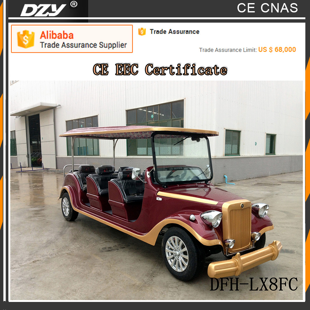 Solar powered golf cart 6 passenger luxury electric vehicle