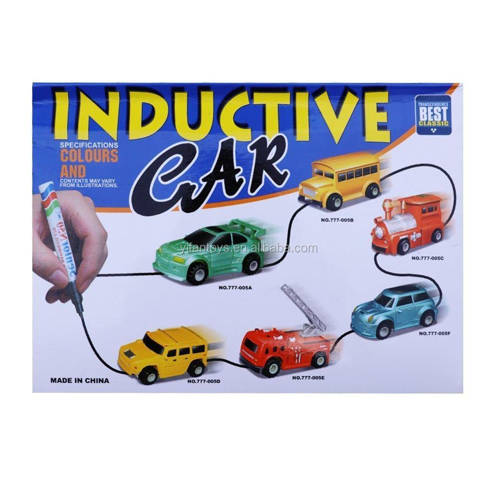 Hot Selling Gift Mini Induction Drawing Electric Inductive Train Truck Inductive car Toys 777-005