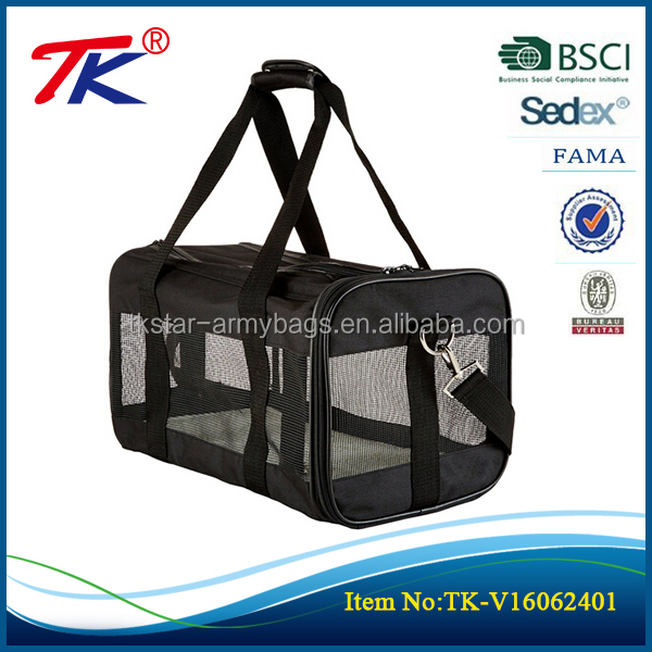 comfortable soft Sided Mesh panels airline approved pet travel bag