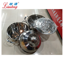 Liantong Brand 30CM large steamer pot or gas cooking pot stainless steel