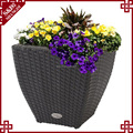 Flower pots rattan for garden, Weather Resistant big flower pot