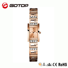 New fashion vogue ladies luxury watch brands rose gold ladies bracelet watch