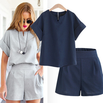 high quality korea fat women clothes drop ship two-piece set sexy China garments ladies clothing factory