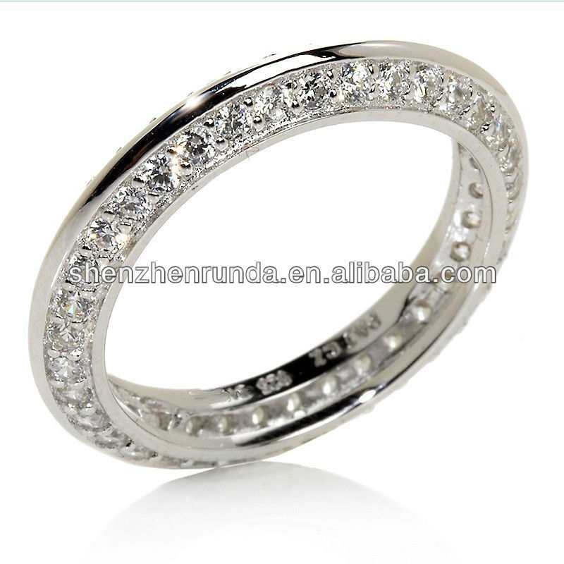 Pave Knife-Edge Eternity Ring Manufacturer & Factory & Supplier