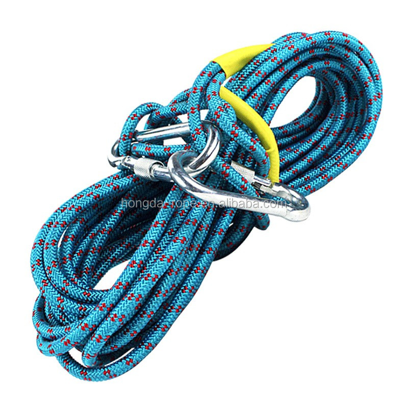 Outdoor sports static climbing rope with mountaineering buckle