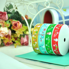 "(10 Yard/lot) 3/8"" (9mm) Wholesale Top Quality Christmas Snowman Grosgrain Ribbon Home Decoration"