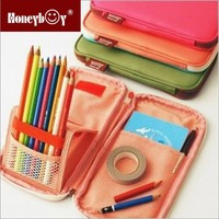 wholesale creative folding functional cheap children multifunctional pencil case