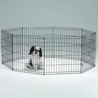 Wire Fence Pet Dog Folding Exercise Metal Playpen