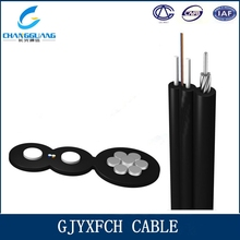 FRP/Steel wire strength member Self-supporting butterfly ftth installing cable
