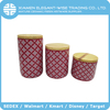 Custom glazed ceramic OEM cylinder cylindrical container with sealing lid