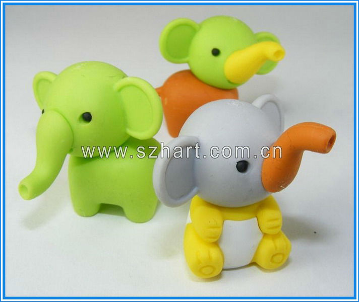 Cute elephant eraser 3D animal eraser Cartoon eraser