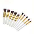 Quality hair powder makeup brush customized brand with wooden handle