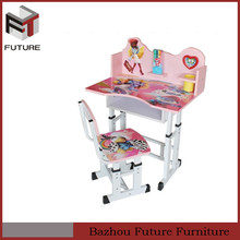 Ergonomic adjustable kids study table and chairs for children
