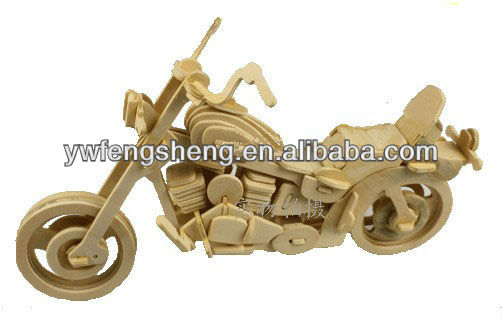 2013 wooden toy motorcycle,3d wooden motorbike puzzle