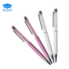 Wedding gifts jewelled pen small MOQ 200pcs with logo colorful crystal ball pen for gifts crystal metal ballpoint