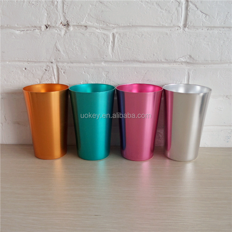 High Quality Oxidation Colourful Cheap Anodized Aluminum Cup, 16oz Aluminum Beer Mug, Wholesale Aluminum Drink Cup