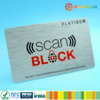 Protect Cashless Payment Card Anti scanning RFID blocking card