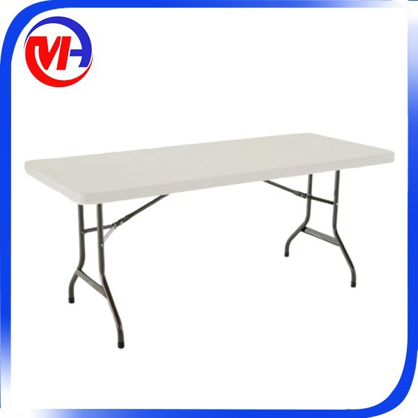 6ft modern outdoor aluminum folding picnic table