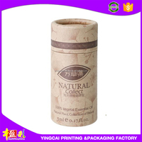 Custom Paperboard Round Tube Hat Card Box for Essential Oil Packaging Box
