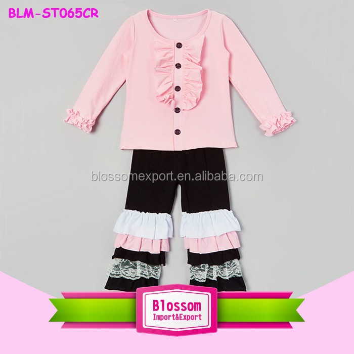 Girls summer clothing set little dress pattern short sleeve lap shoulder t shirt fluffy chiffon tutu skirt baby girls outfit set