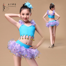 2016 Ballroom Latin Dance Dress dance costumes for kids competition Latin tutu