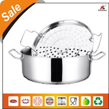high quality stainless steel casserole with steamer