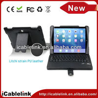 For ipad Air ipad 5 Leather stand case leather case keyboard wireless bluetooth keyboard for Christmas