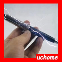 UCHOME best selling Electric Shock Pen Funny Prank Gag Joke Trick Novelty Real Writing Pen