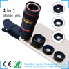 kit wide angle fish eye for Iphone6 reflex digital camera cover 4 in1 zoom lens kit for smartphone