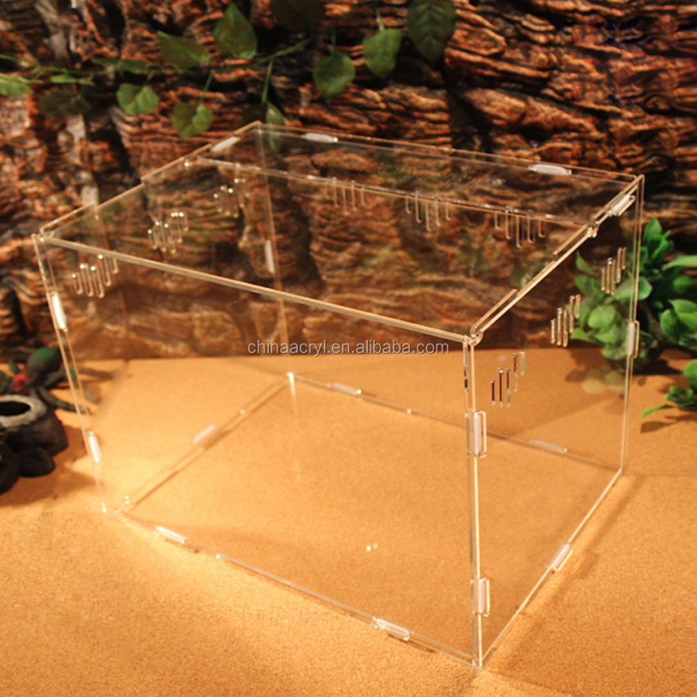 Acrylic material Reptile insect cage Breeding Box tarantula lizard Geic snake