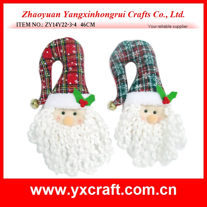 Hot selling 2016 new felt Christmas santa claus head