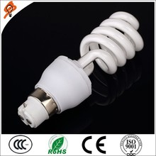 2015 new products half spiral energy saving lamp china supplier style energy saving e27 7w lighting bulb