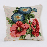 beautiful flower double-side printing simmons decor old chair kilim pillow covers