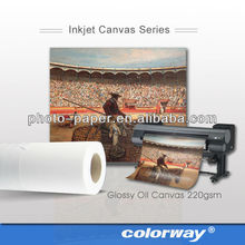 Best selling 100% polyester inkjet blank canvas for painting for indoor/outdoor
