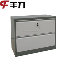Professional design steel 2 drawer wall mounted horizontal filing cabinet