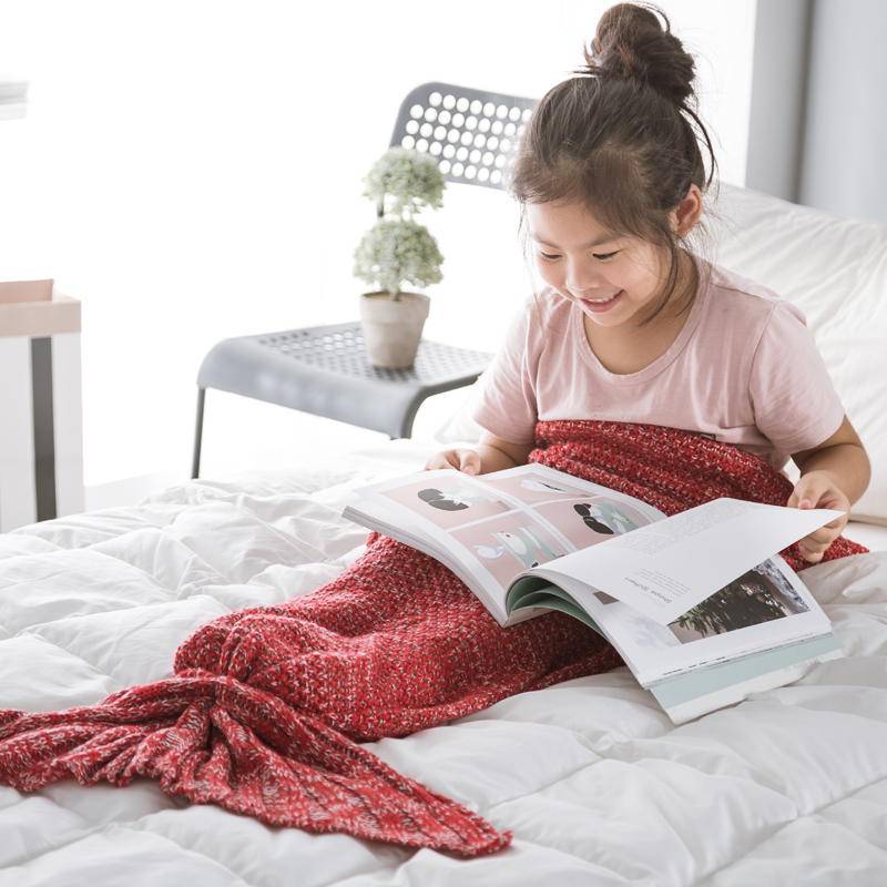 2017 most popular Mermaid Tail Blanket children Size With Good Service