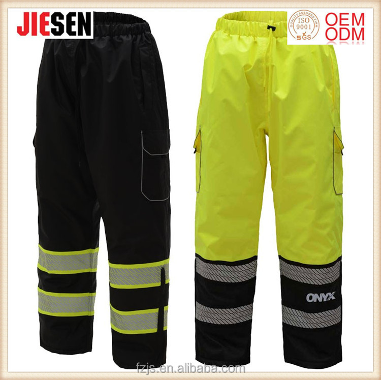 High visibility Class E Ripstop waterproof safety Insulated Pants