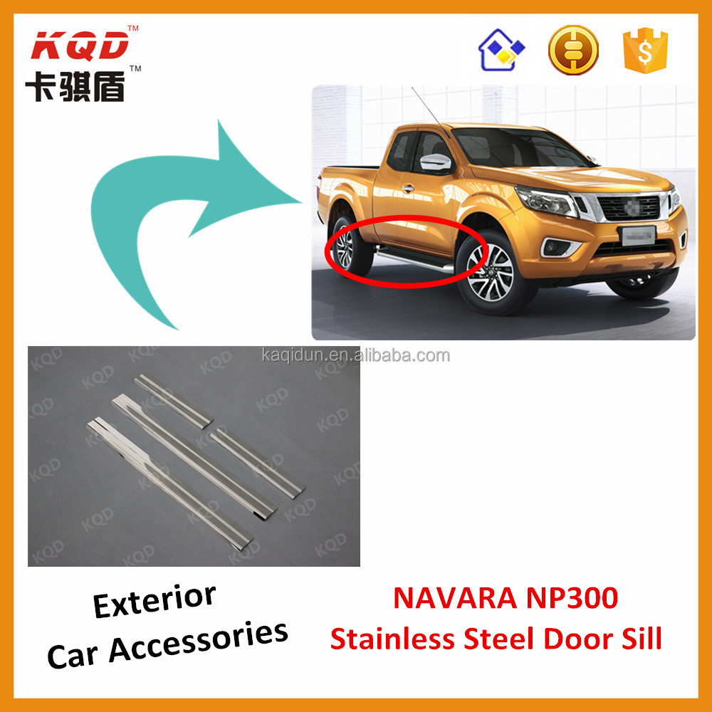 Cars accessories np300 door sill scuff plate for np300 navara accessories nissan2014 navara np300 navara np300