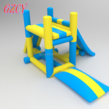 Mini Inflatable Water Park Fun Land, inflatable Water Tower With Jump Blob