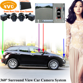 360 degree around view best car camera parking assist system with DVR function Personal for Mazda cx7