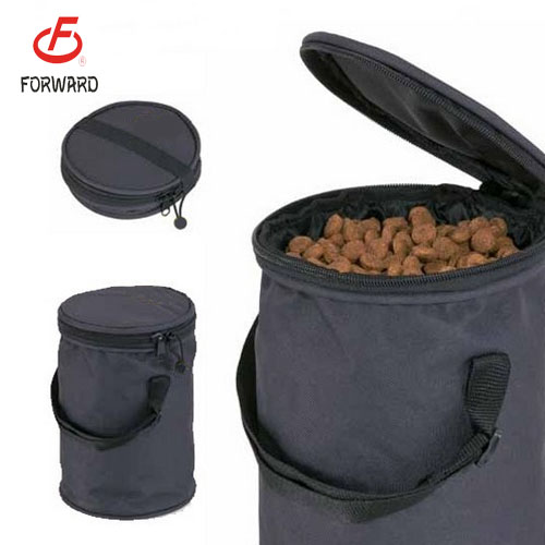 Foldable pet dog food packing carrier bag for travel