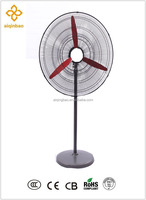 20 inch industrial grade high-velocity oscillating pedestal stand warehouse air cooling strong round commercial fan