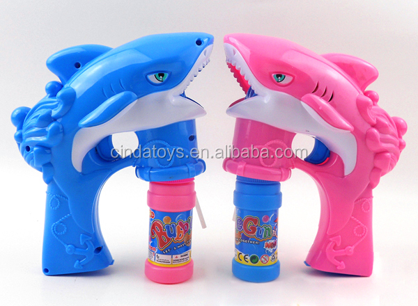 Undersea world shark bubble gun with led light,Music yoys Electric bubble gun,children toys soap bubble game