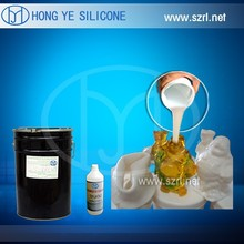 Silicone rubber for molding polyurethanes polyester resins