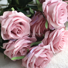 Wedding decorations 8 colors china artificial silk bouquet roses