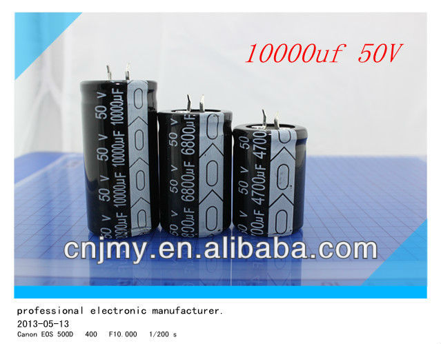 10000uF 50V Snap-in type Aluminum Electrolytic Capacitor for audio